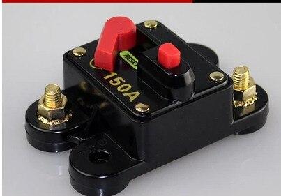 5 pièces 50A 60A 80A 100A 125A 150A 200A 250A 300A facultatif Intégré Audio de Voiture de Fusible de Disjoncteur de 12V Protection SKCB-01