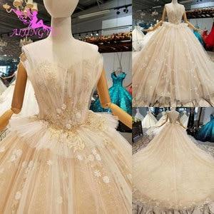 Image 2 - AIJINGYU Plus Size Boho Wedding Dresses Jumpsuit Gown engagement Pleats Weddimg Bridal Designers Gowns Dubai Wedding Dress