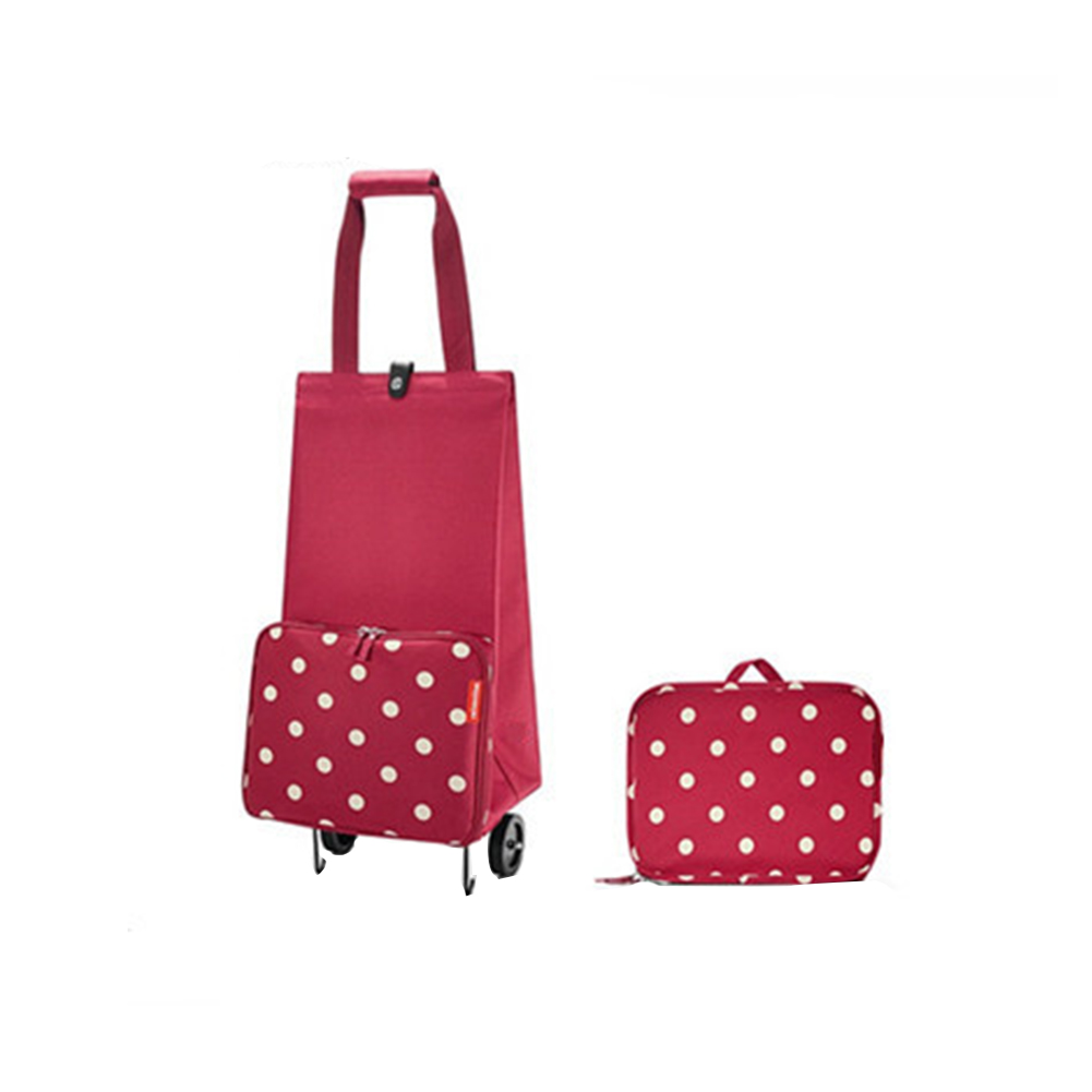 Foldable Shopping Bag Multifunction Travel Durable Labor Saving On Wheels Pull Cart Stretching Organizer Large Capacity Portable