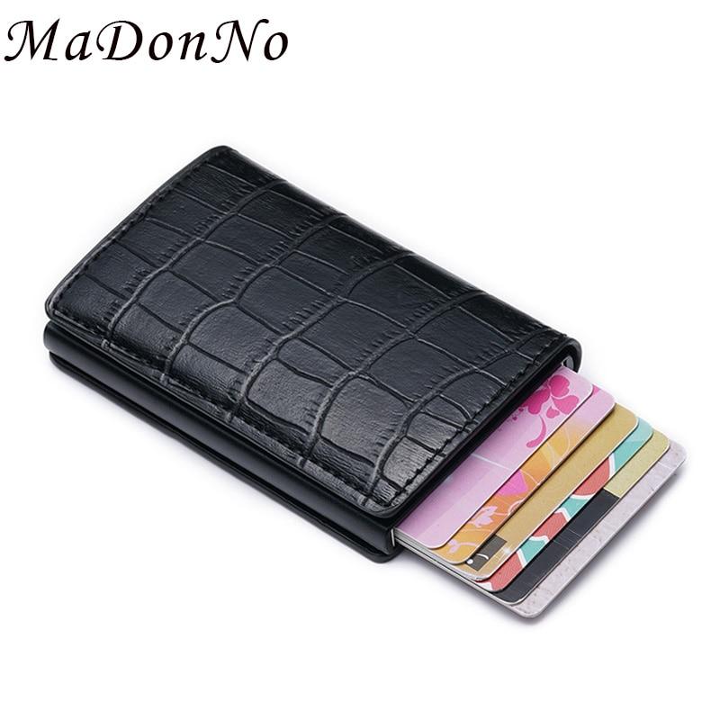 Black Metal Business ID Credit Card Wallet Holder Pocket Case Box GW
