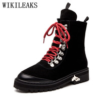 Designer Faux Suede Women Winter Boots Luxury Brand Ankle Boots For Women High Quality Martin Boots