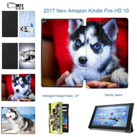 MTT SIBERIAN HUSKY For Amazon Fire HD 10 2017 Tablet Case For Amazon Fire 10 TriFold