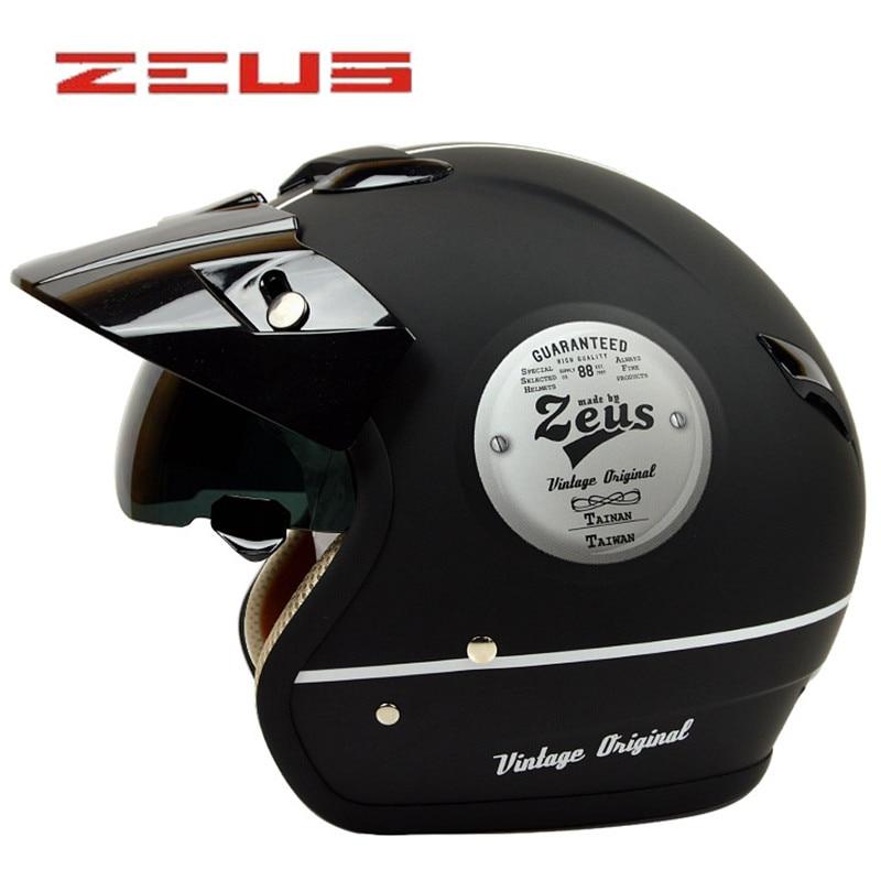 ZEUS 382 open face 3/4 motorcycle motorcross Casco Capacete helmet, scooter helmet Vintage retro motorcycle safety  helmet topgear the stig helmet capacete casco de