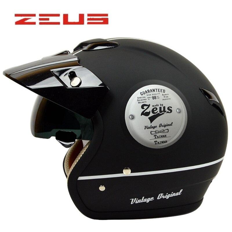 ZEUS 382 open face 3/4 motorcycle motorcross Casco Capacete helmet, scooter helmet Vintage retro motorcycle safety  helmet другие zoobles chatteroos snow bear 382 happitat 382 happitat