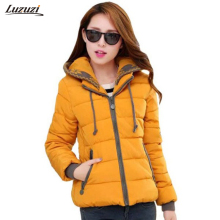 1PC Hooded Parka Winter Jacket Women Thick Cotton Padded Coats Casaco Feminino Jaqueta Feminina Abrigos Mujer Invierno Z235