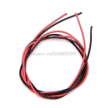16 AWG Калибр провода гибкие многожильные медные кабели с силиконовой оплеткой для RC черный красный S08 и Прямая поставка