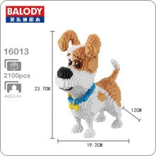 Balody 16013 Jack Russell Terrier Pet Dog Animal 3D Model DIY Micro Diamond Mini Building Blocks Bricks Assembly Toy Gift