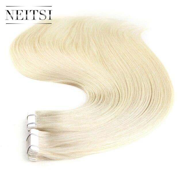 Neitsi European Straight Skin Weft Hair Tape In Machine Made Remy