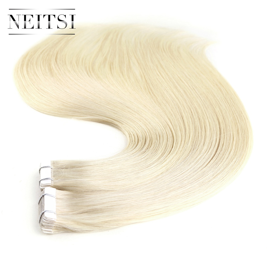 Neitsi European Straight Skin Weft Hair Tape In None Remy Human Hair Extensions 20 2 0g