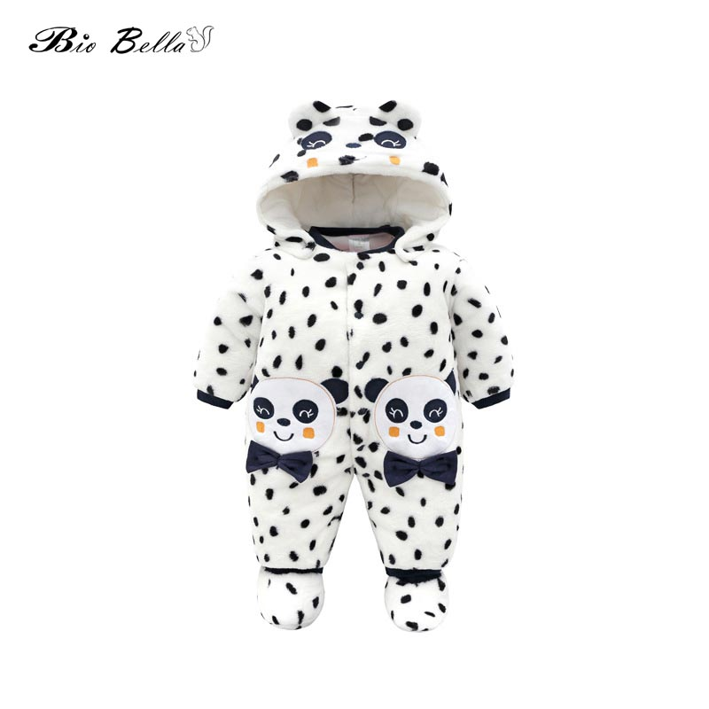 Newborn Baby Boy Girls Hooded Fleece Jumpsuit Infant Cute Animal Style Clothes Newborn One-piece   Romper   Baby Clothing Overalls