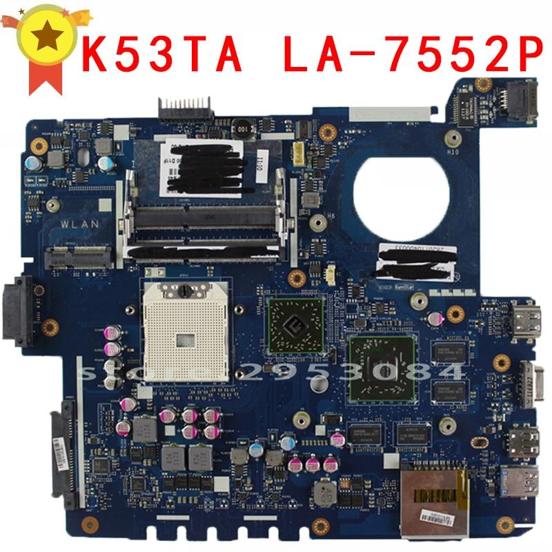 Voor Asus K53Z X53Z A53Z LA-7552P laptop moederbord moederbord 100% - Computer componenten - Foto 4