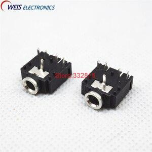 20 шт. 3F07 3,5 мм стерео разъем аудио разъем PCB 5Pin PJ-307 Железный двухтрековый Женский Разъем Бесплатная доставка