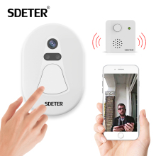 SDETER WIFI Doorbell Door Bell Kit Home Security Camera Wireless WIFI W/ Free Cloud Storage Night Vision Alarm Push Door Viewer