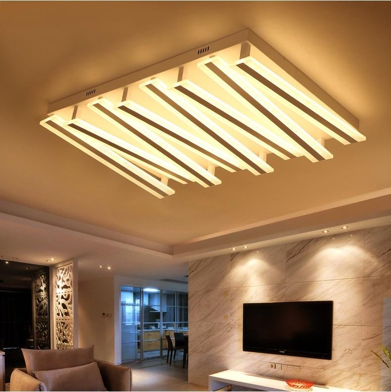 Прямоугольный светодиодный потолочный светильник гостиная простой современный атмосферу зал Свет тонкий творческий спальня исследование…
