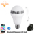 Inteligente Lâmpada LED Bluetooth Speaker LED RGB Luz E27 Base de Leitor de Música Sem Fio com APLICATIVO de Controle Remoto.