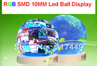 FULL COLOR RGB LED BALL DISPLAY 1M Diameter Creative Product Rgb P10 SMD Rental Round Ball