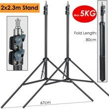 2X230 Cm Heavy Duty Fotografie Light Stand Max Belasting 5Kg Ondersteuning Statief Voor Fotografische Verlichting Lled Lamp softbox Paraplu