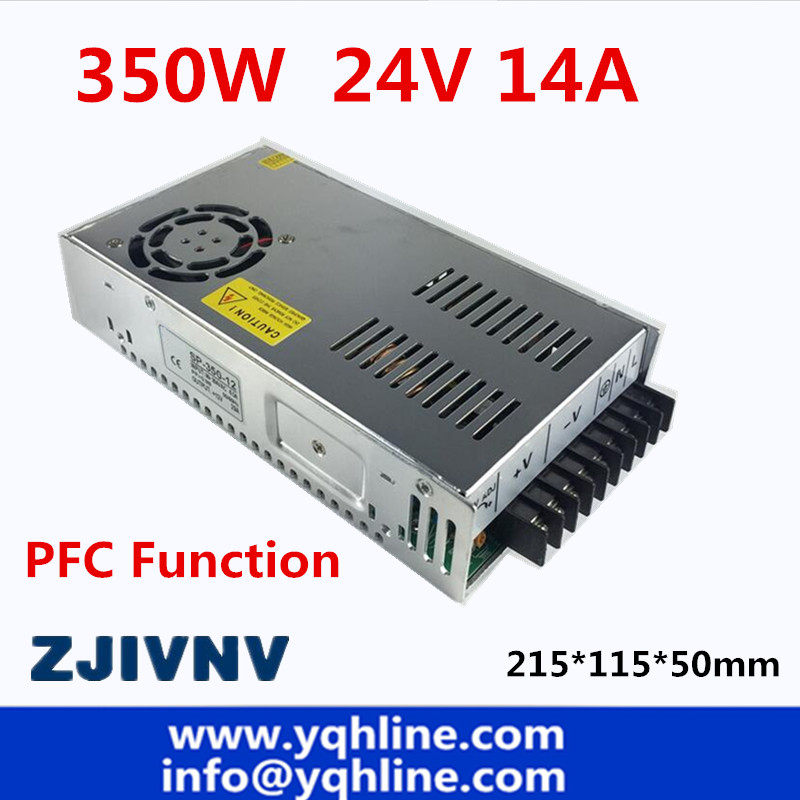 PFC function 350w switching power supply 24v 14A driver source switching power supply ACDC for CCTV camera LED Strip SP-350-24 ac to dc smps pfc function 350w switching power supply 13 5v 25a led driver source switching power supply 13 5volt