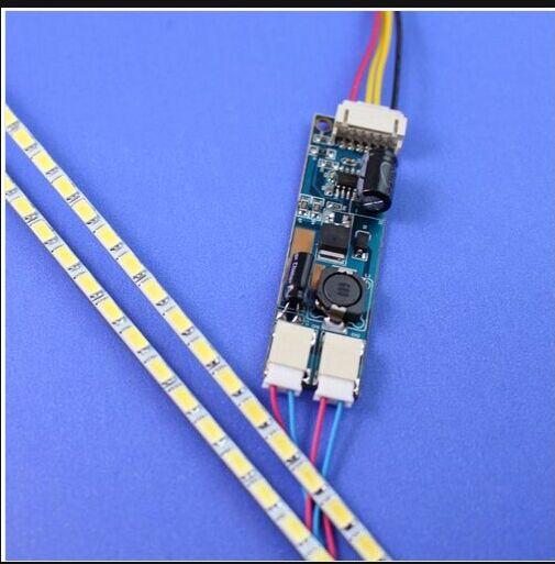 Free Shipping 10PCS New 17 355MM 4MM 2835 Adjustable Brightness LED Backlight Strip Kit Update LCD