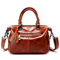 2019 High Quality Ladies 100% Genuine Leather Luxury Handbags Bags Women's Designer Famous Brand Woman Bags Brown Gift Tote