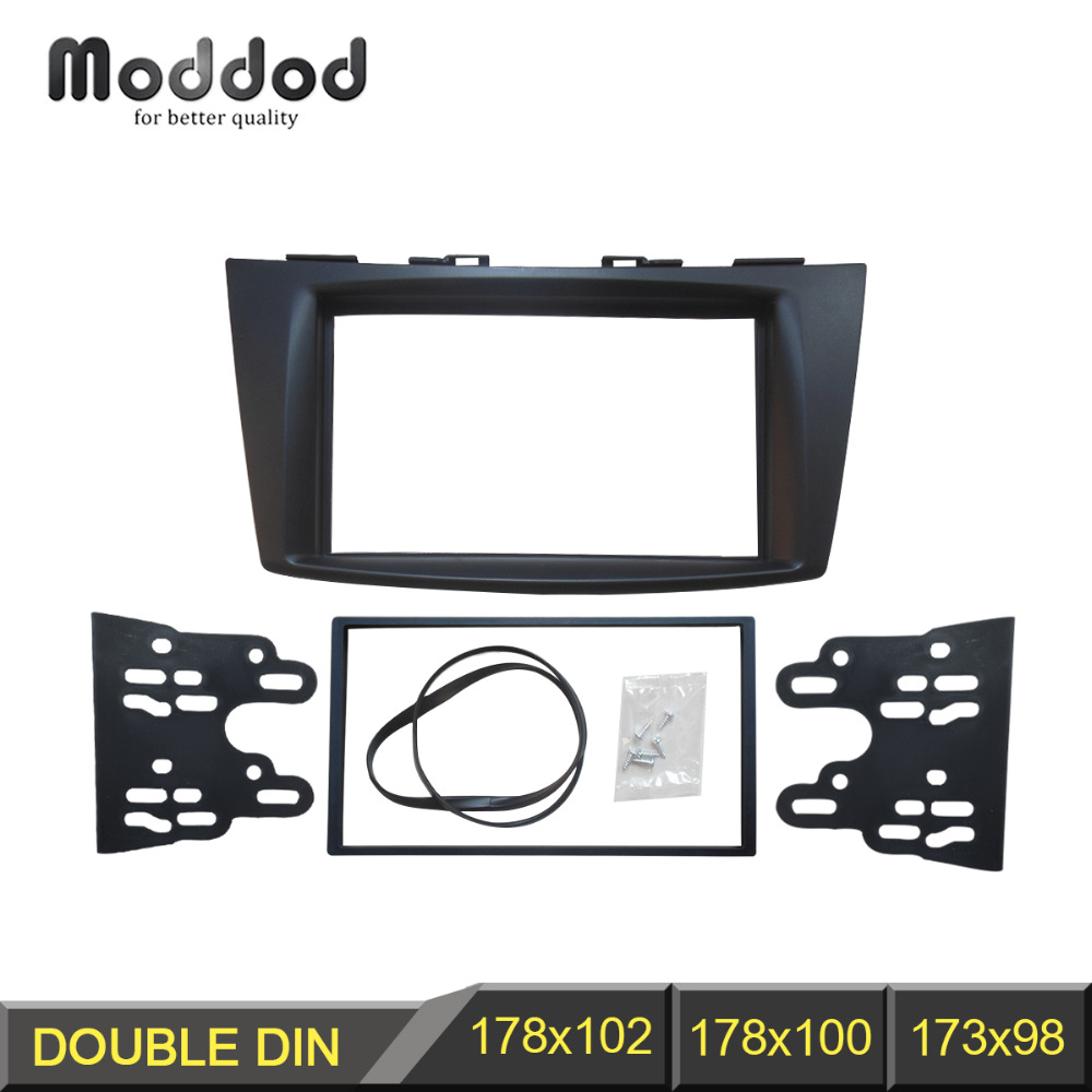 Double Din Car Radio Fascia For Suzuki Swift 2011 Stereo Panel Dash Kit Wiring Fitting Trim Installation Frame Facia In Fascias From Automobiles Motorcycles On