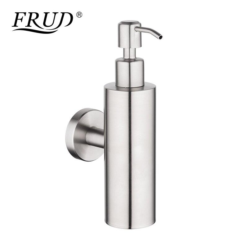 FRUD Modern Liquid Soap Dispensers Wall Mount Soap Bathroom Shower Lotion Shampoo Stainless Steel Liquid Soap Dispenser Y18001
