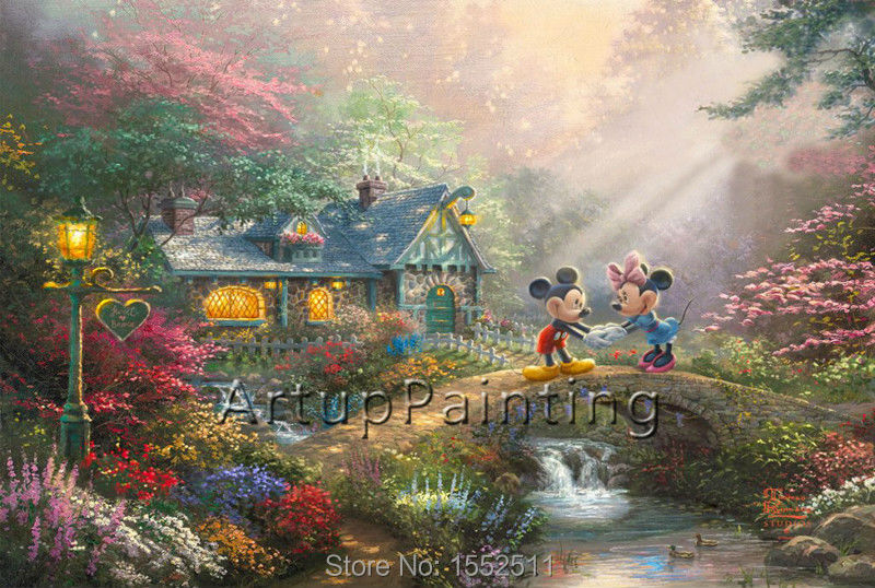 Thomas kinkade oil paintings tangled art decor painting - Home interiors thomas kinkade prints ...
