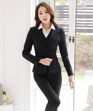 Formal Uniform Design Autumn Winter Professional Business Work Suits Jackets Pants Vest Female Trousers Sets Blazers