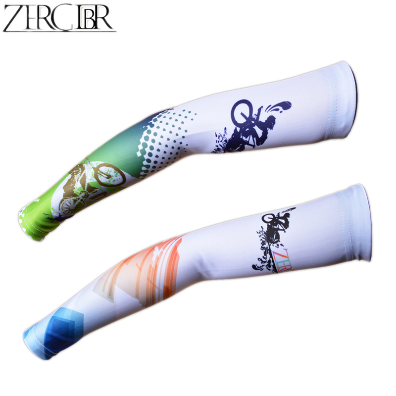 Men Women Outdoor Sport Cycling Sleeves Printed Armwarmer MTB Bicycle Sleeves Arm warmer ProtectioSleeves Ridding Sunscreen