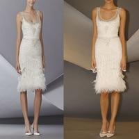 Hot White Short Beaded Cocktail Dresses Elegant Tank Knee Length Sheath Luxury Prom Dresses Evening Party