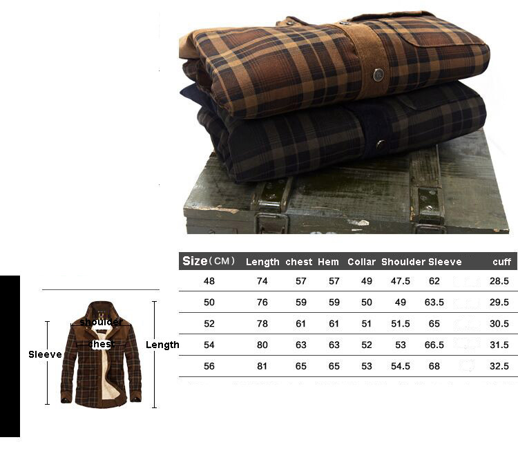 HTB1VShUaLjsK1Rjy1Xaq6zispXaG 2019 New Spring Autumn Fleece Men Winter Jacket Plaid Classical Button Jacket M-3XL