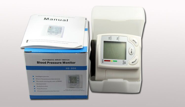 Gustala Automatic Digital Sphygmomanometer Wrist Cuff Arm Blood Pressure Monitor Meter Gauge Measure Portable Bracelet Device 28
