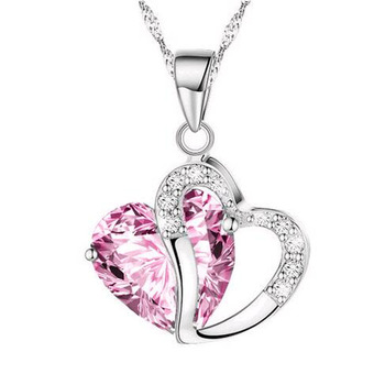 Heart Crystal Pendant Necklace 1