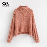 2018 New Long Sleeve Thick Sweater Pullover Women S Twist Turn Down Collar Sweaters