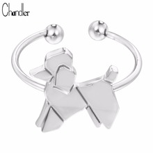 40% Off Silver Plated Cute Poodle Dog Ring Justable Alloy Metal Animal Jewelry For Women Party Accessaries Drop Shipping