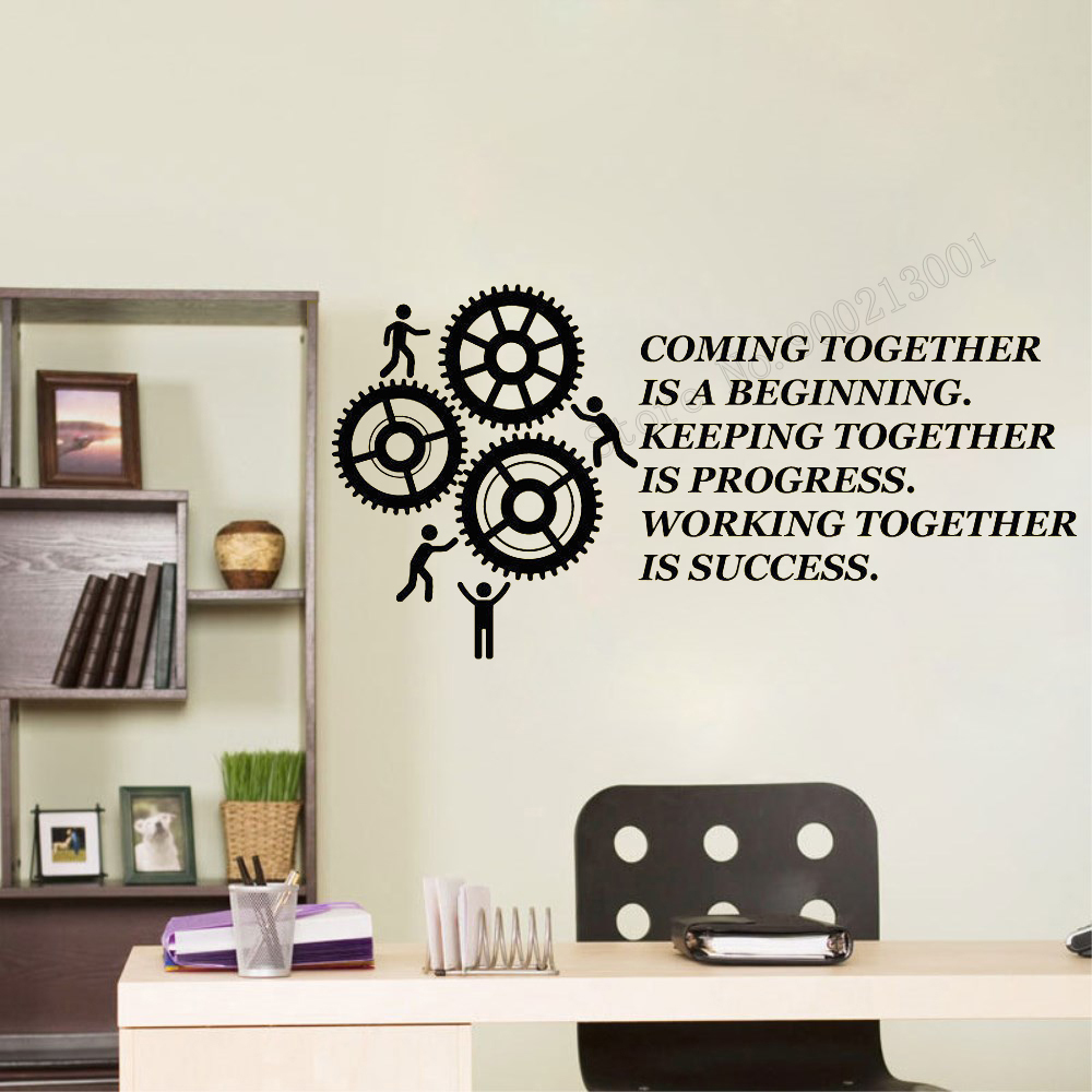 Art Wall Sticker Team Work Is The Key To Success Wall