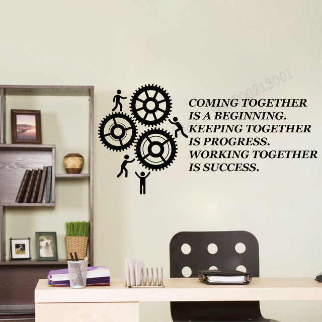 Art Wall Sticker Team Work Is The Key TO Success Wall Decoration ...