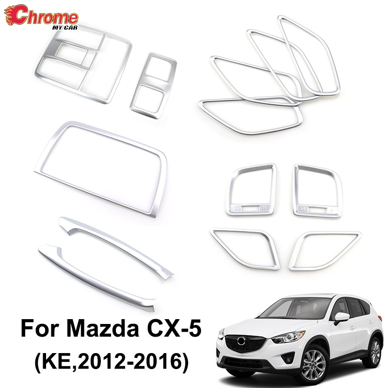 For Mazda CX-5 CX5 KE 2012 2013 2014 2015 2016 Chrome Interior Door Handle Armrest Air Vent Cover Trim Decoration Car Styling