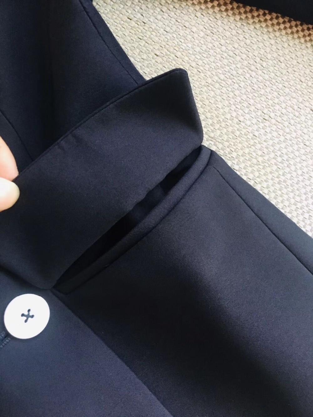 Ol Pantalon Costumes Croisé Ddxgz3 Blazer Mode Femmes 2019 Double Manteau FBqZSw6
