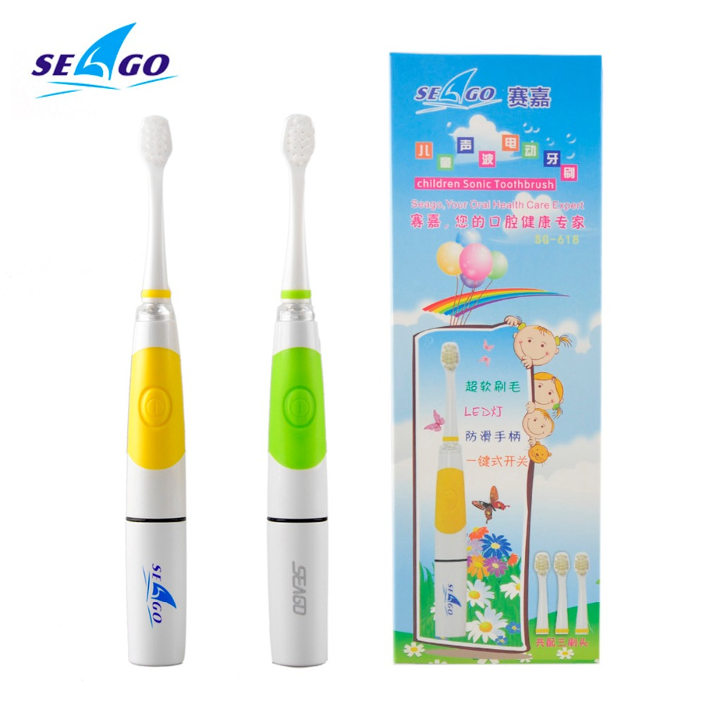 3-8 Years Portable Electric Children Toothbrush Soft Baby Travel Teether Brush Kids Teething 3 Head Rechargeable Toothbrush