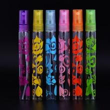 MUB - Fashion 6Pcs 10ml Print Rose Perfume Spray Bottles Atomizer Empty Glass Refillable Mini Bottle Free Shipping