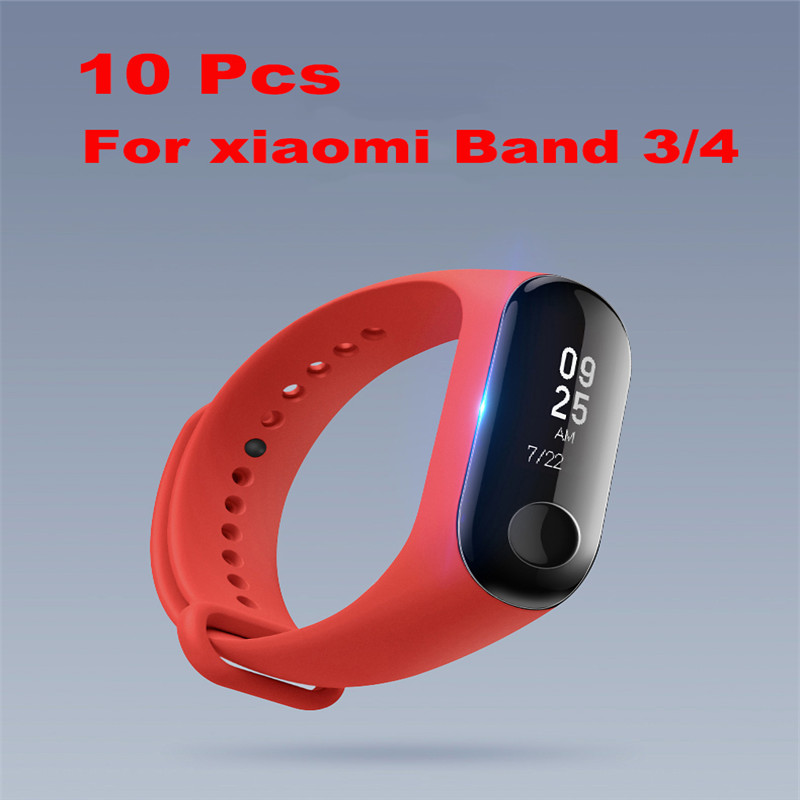 10Pcs Screen Protector for Xiaomi Band 3 Glass for Xiaomi Band 3 4 Correa Nfc Film Glass