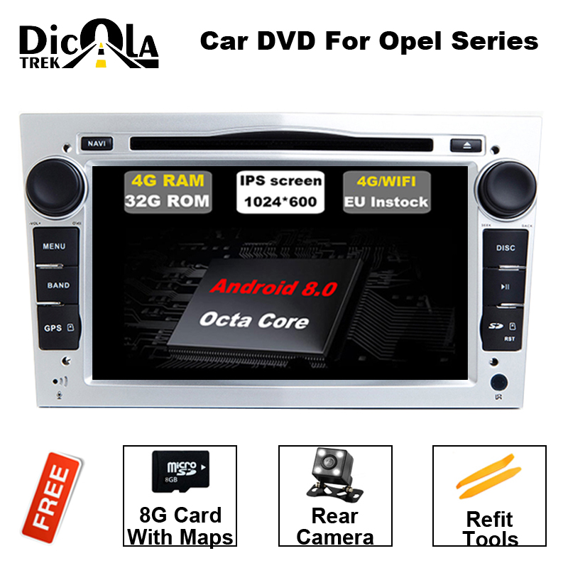 7 HD Android 8.0 Voiture Lecteur DVD GPS Système de Navigation Pour Opel Zafira B Vectra C D Antara Astra H G Combo 3g BT Radio Stéréo