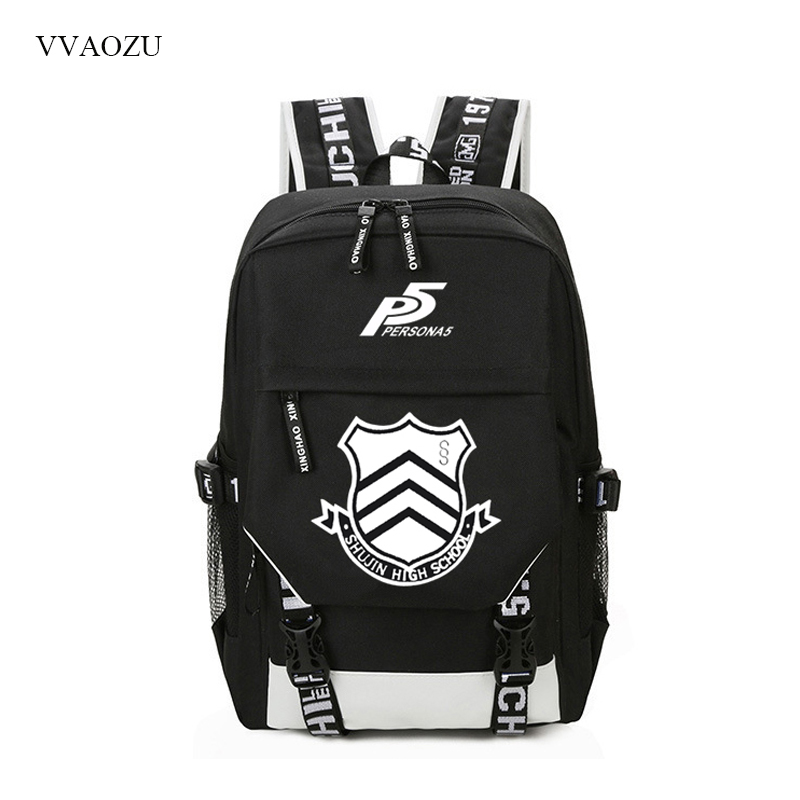 <font><b>Persona</b></font> <font><b>5</b></font> USB Charging <font><b>Backpack</b></font> Computer Laptop School Bag Back Pack Unisex Students College Travel <font><b>Backpacks</b></font> Rucksack Daypack image