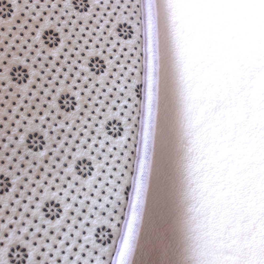 Miracille богемный стиль Мандала узор Круглый ковер нескользящий коврик для ванной мягкий пушистый коралловый бархат ковер для декора гостиной