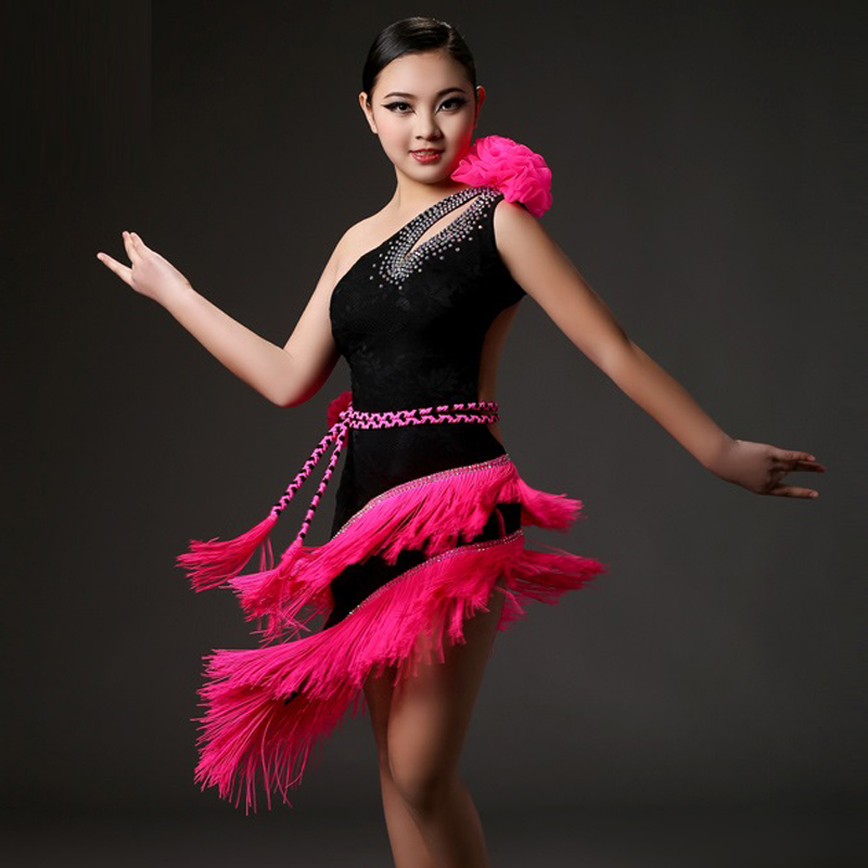 Show details for  Tassel Kids Latin Dress For Girls Clothes For Dancing Girls Dance Costumes For Kids Dancewear Salsa Dress Fringe Samba
