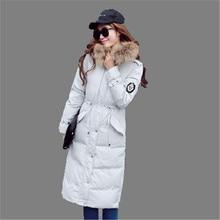 2016 New Winter Women Coat Long Parka Female Slim Coat Warm Fur Collar Hooded Cotton Down Jacket Plus Size Down Coat A2171