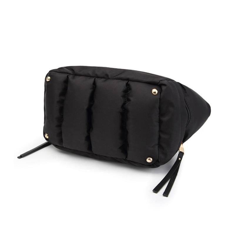 Image 5 - LOSLANDIFEN 2020 Fashion Women Winter Space Bale Handbag Casual  Cotton Totes Bag Down Feather Padded Lady Shoulder Crossbody  BagTop-Handle Bags