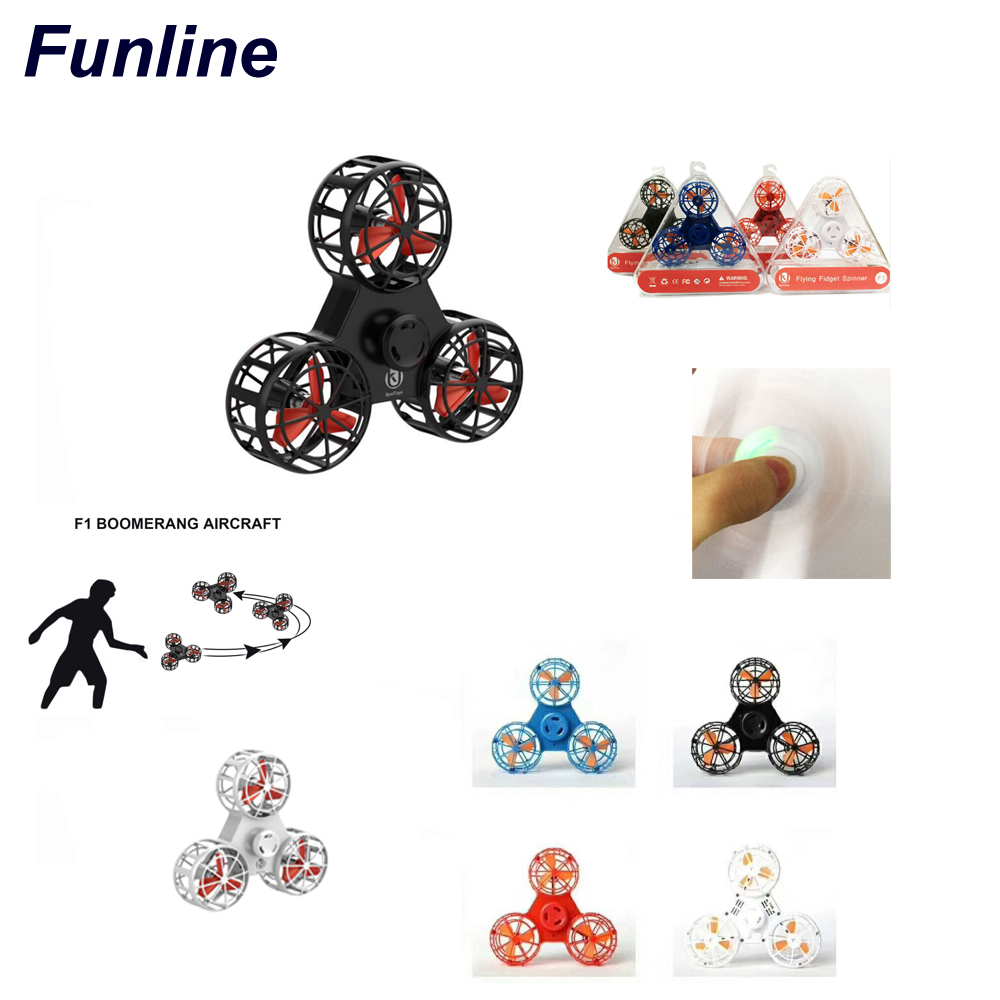 Pressure Reliever Toy Mini Rechargeable Automatic Rotatable Low-Speed Flying Fidget Spinner Spinning Top