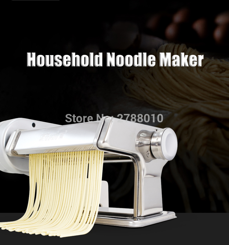 Electric Household Noodle Press Machine Stainless Steel Small Manual Noodle Machine SLK500 1pc household mini pasta machine manual metal spaetzle makers pressing machine pole head mingled split noodle tools